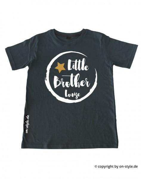 Geschwistershirt - Little Bro mit Gold