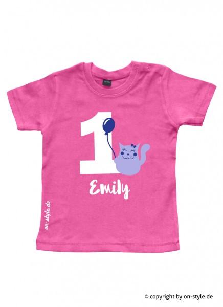 Geburtstags-Shirt - kleine Katze