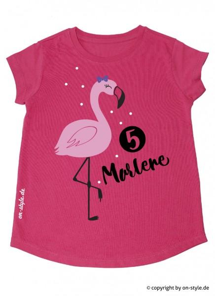 T-Shirt Mädchen - Flamingo