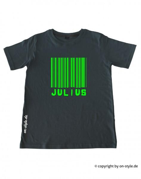 T-Shirt Jungen - Strichcode