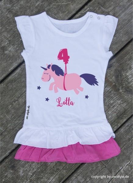 T-Shirt-Kleid Mädchen - Einhorn