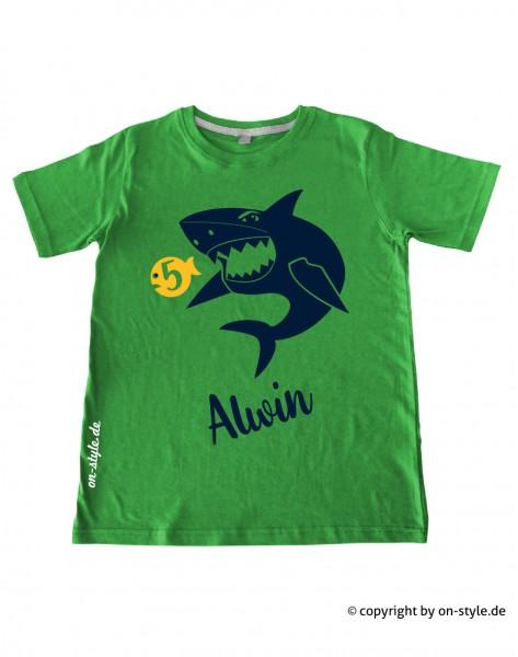 T-Shirt Jungen - Hai