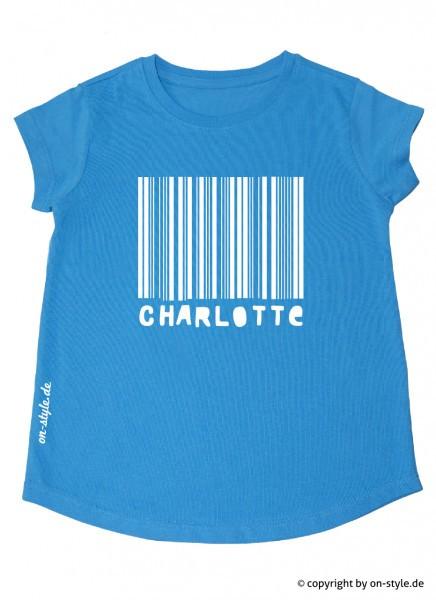 T-Shirt Mädchen - Strichcode